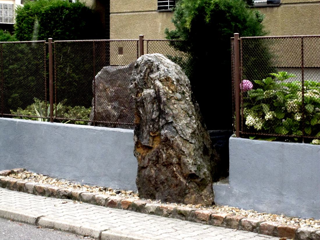 standing stone in Prague