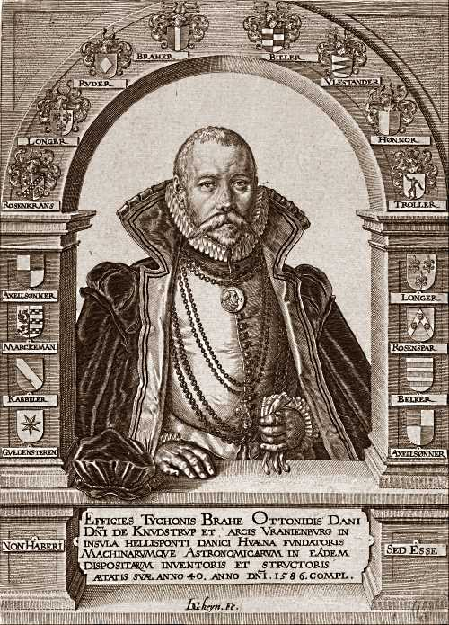 Etching of Tycho Brahe