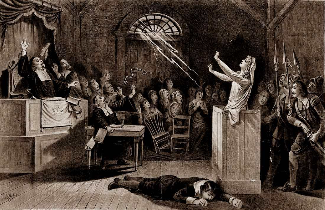 Witch trial in Central Europe. Historical picture