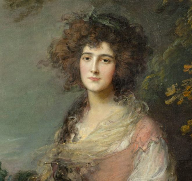 Mrs Richard Brinsley Sheridan by Gainsborough