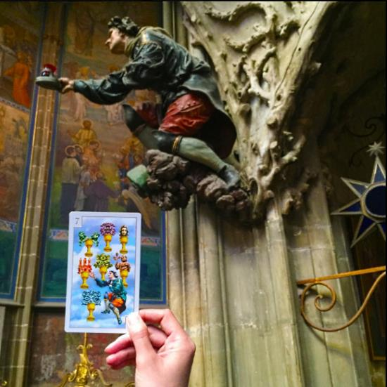 Card next to one of its source image