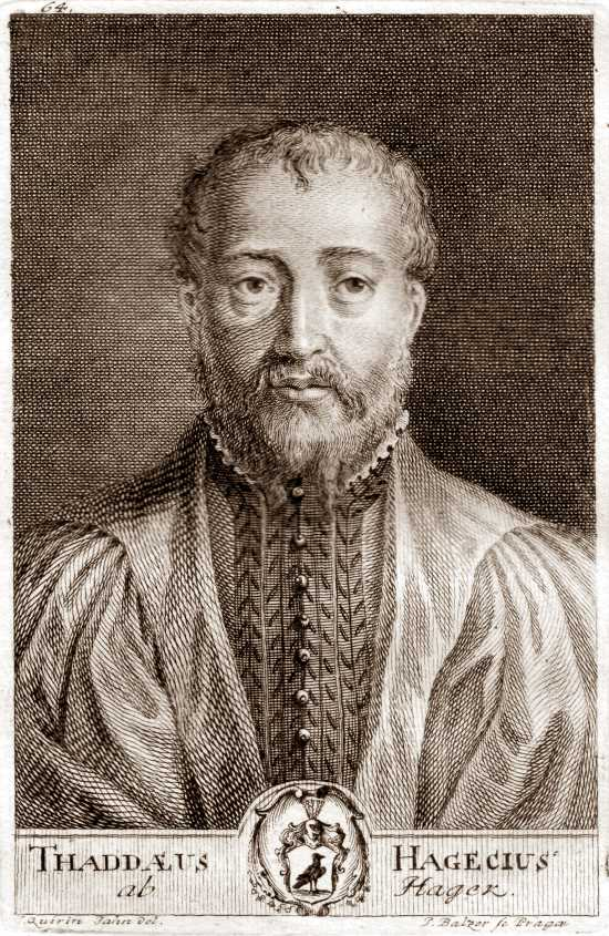 Engraving of Tadeáš Hájek
