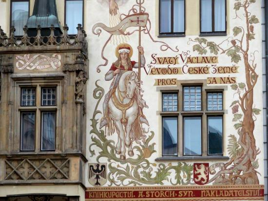 Mural of St Wenceslas