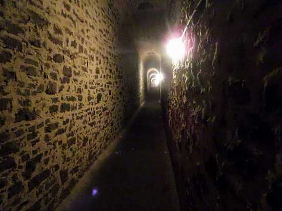 Tunnels in the walls of Vyšehrad