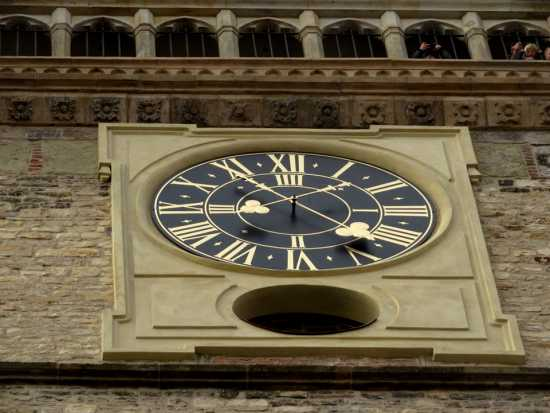 Baroque tower clock