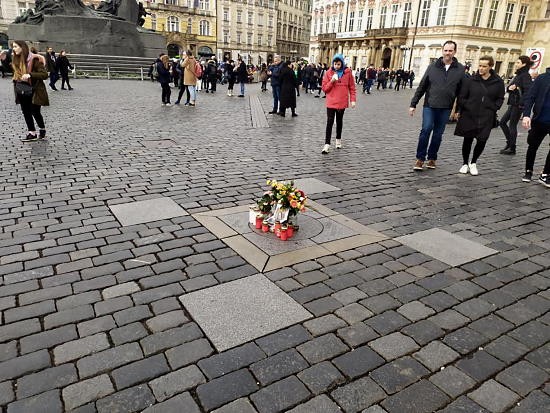 Site of the Victory Column on Old Town Square